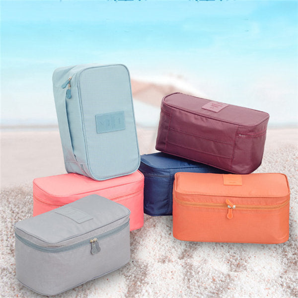 Casual Nylon Travel Waterproof Lightweight Underclothes Wash Cosmetic Storage Bags