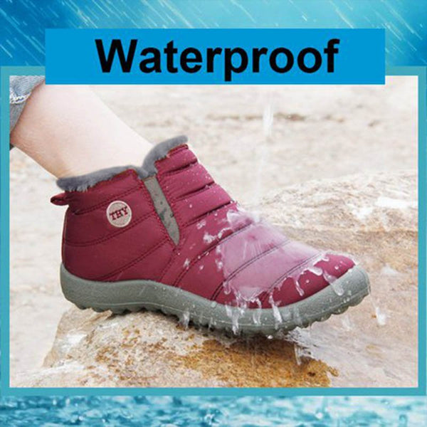 Waterproof Fur Lined Snow Boots