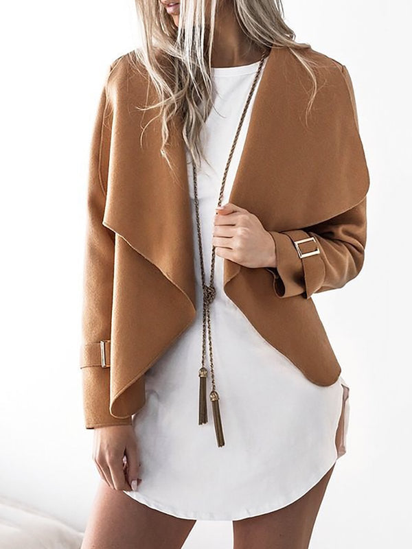 Paneled Elegant Shawl Collar Coat