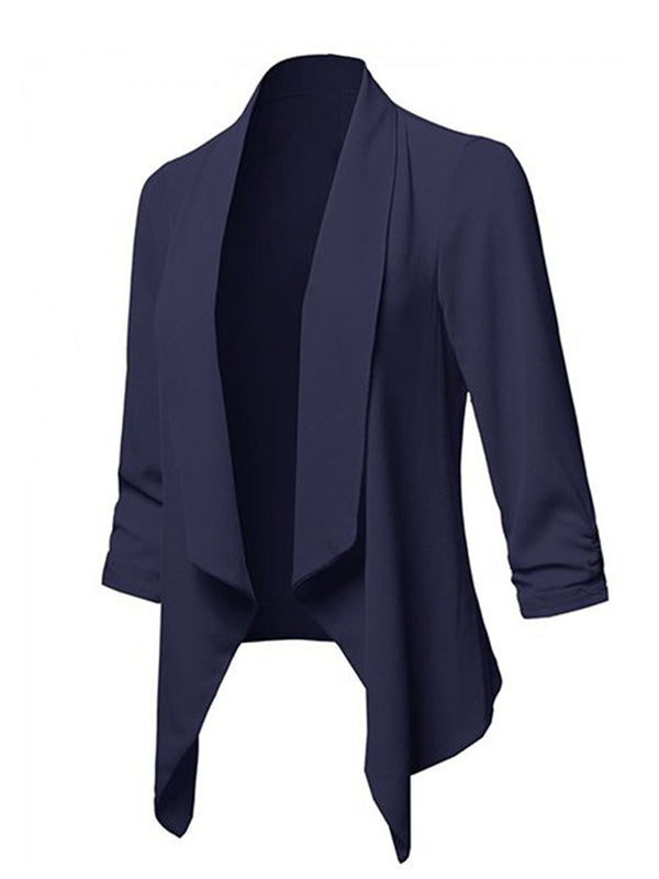 Work Long Sleeve Ruched Blazer