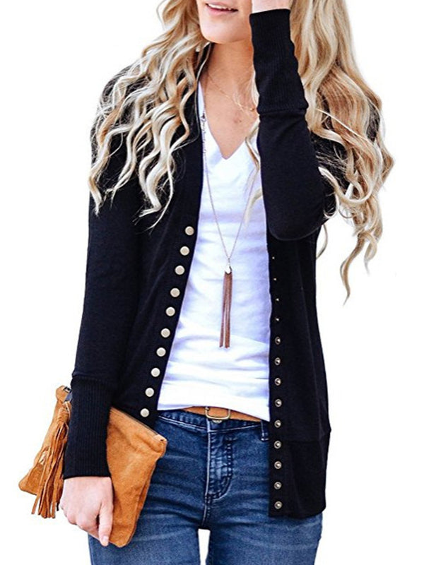 Women Knit Button Cable Sweater Cardigans