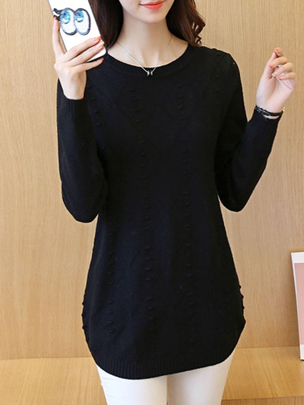 H-line Casual Long Sleeve Knitted Sweater