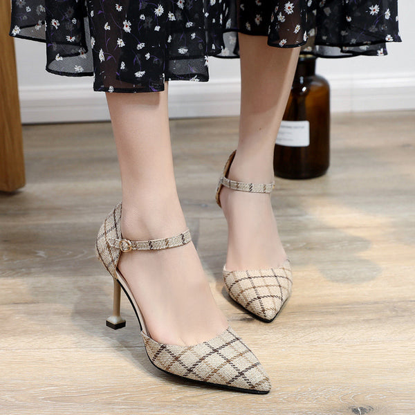 Pointed Toe  Elegant  Adjustable Buckle Heels