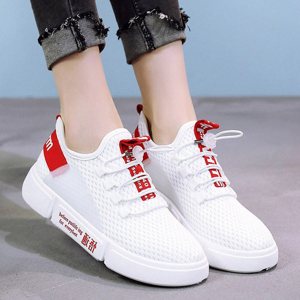 Women Mesh Fabric Sneakers  Casual Comfort Sport Breathable Shoes