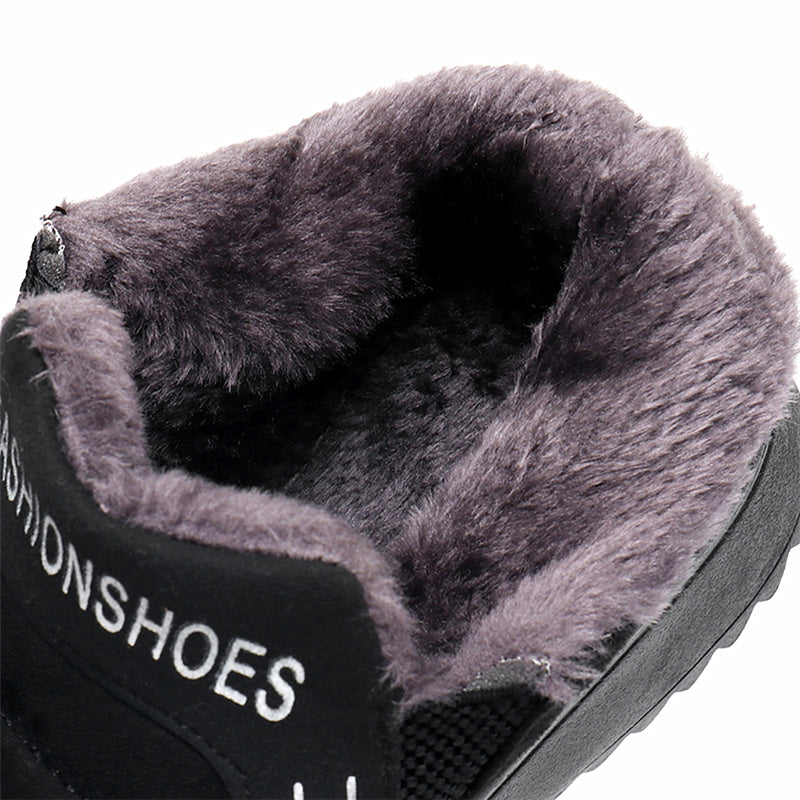 Fleece-lined Slip-On Ankle Women Boots