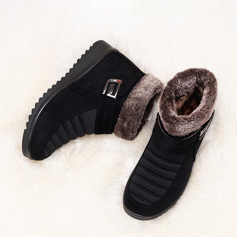 Women's Round Toe Flat Heel Casual Boots