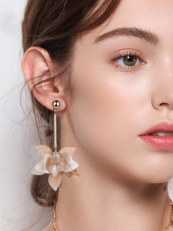 Flower Metal Earring