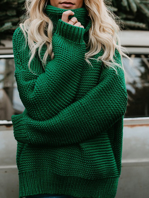 Chic Turtleneck Knitted Sweater