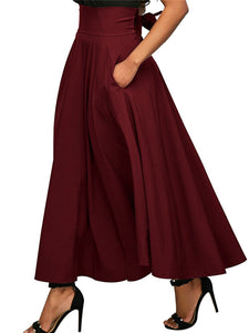 Solid Gathered Casual Chiffon Bow Skirt Dress