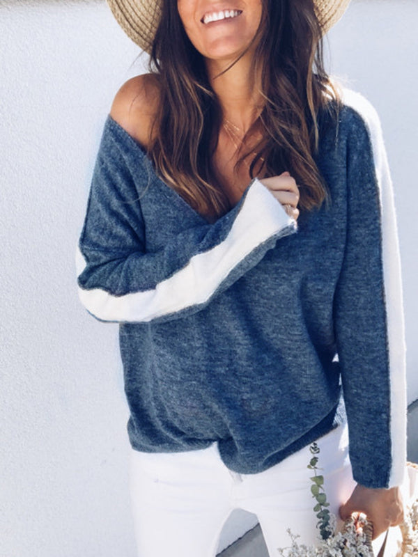 Fashion Casual Women Autumn Loose Top Long Sleeve Blouse