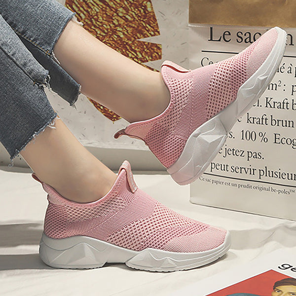 Women Mesh Fabric Casual Comfort Sport Slip On Sneakers