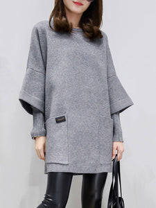 Fake Two Pieces Paneled Casual Dress