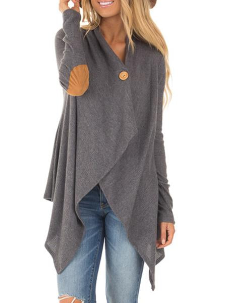 Asymmetrical Elbow Paneled Knitted Top