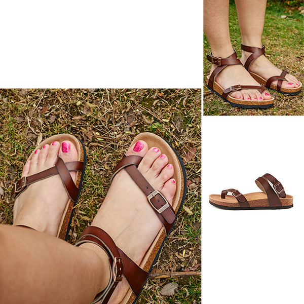 Ankle Strap Buckle Flip Flop Gladiator Thong Summer Shoes