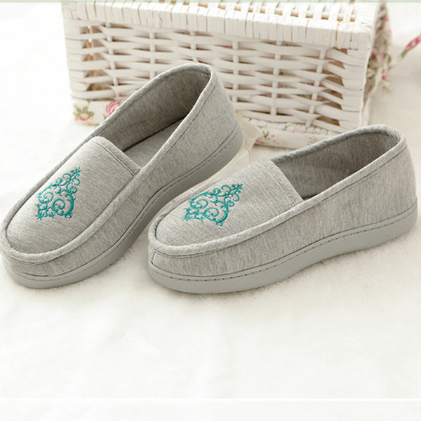 Flat Heel Cotton Embroidery Spring/Fall Casual Boots