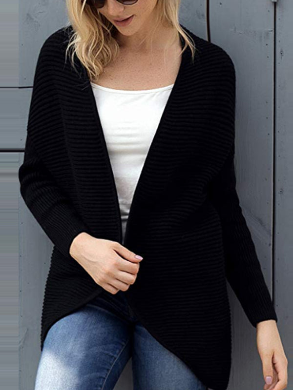 Lace Up Casual Knitted Solid Sweater Cardigan