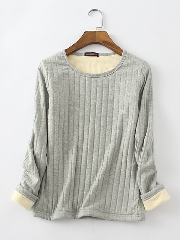 Long Sleeve Casual Solid Winter Blouse