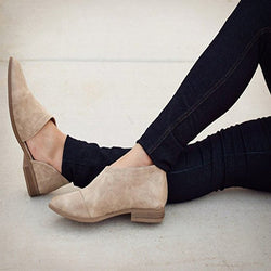 Large Size Casual Pointed Toe Suede Flats