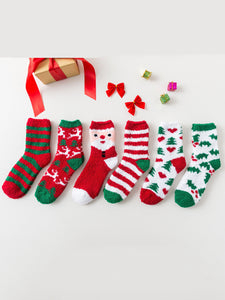 Christmas Sweet Cartoon Stripes Women Socks