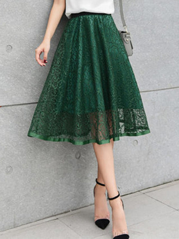 Casual Guipure Lace Skirt