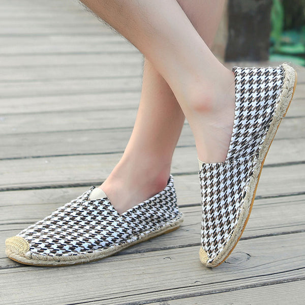 Women Fabric Loafers Casual Comfort Plus Size Shoes