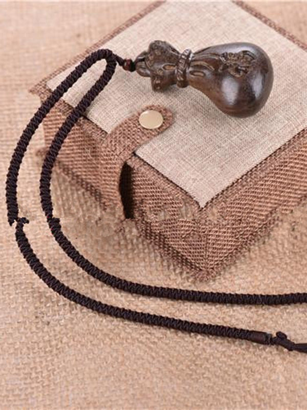 Wood Vintage Sweater Necklace