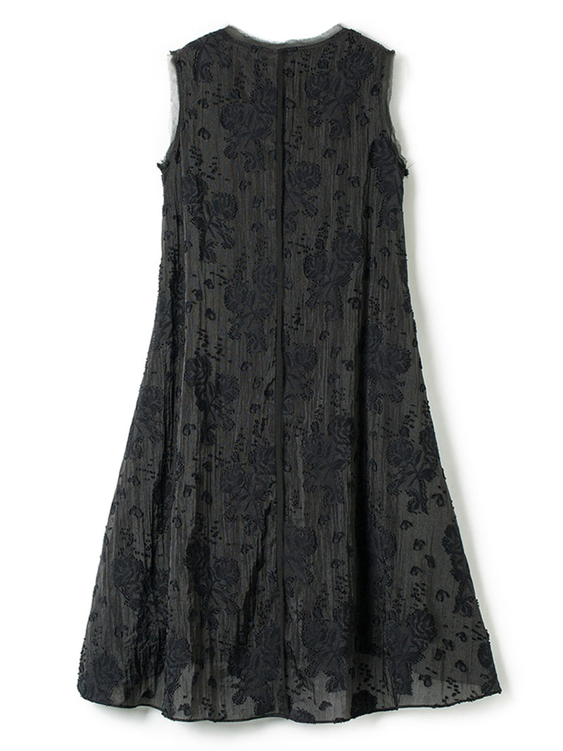 Asymmetric Elegant Guipure lace High Low Sleeveless Plus Size Dress