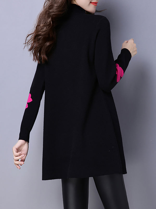 Turtleneck Casual Geometric Women Dress