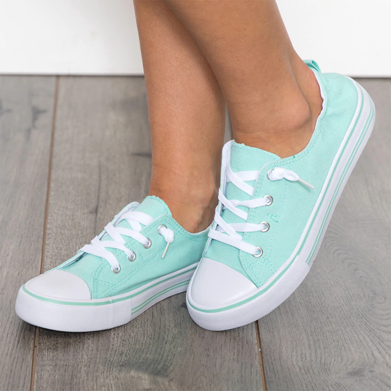 Women Canvas Sneakers Comfort Plus Size Casual Shoes