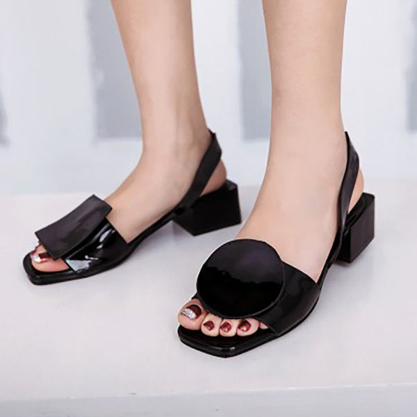 PU Chunky Heel Casual Sandals