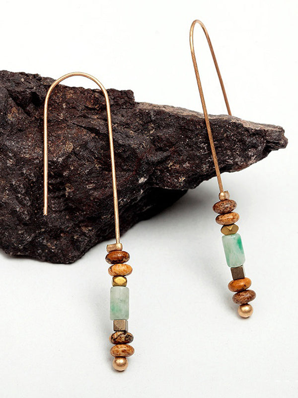 Womens Original Natural stone Alloy Earrings