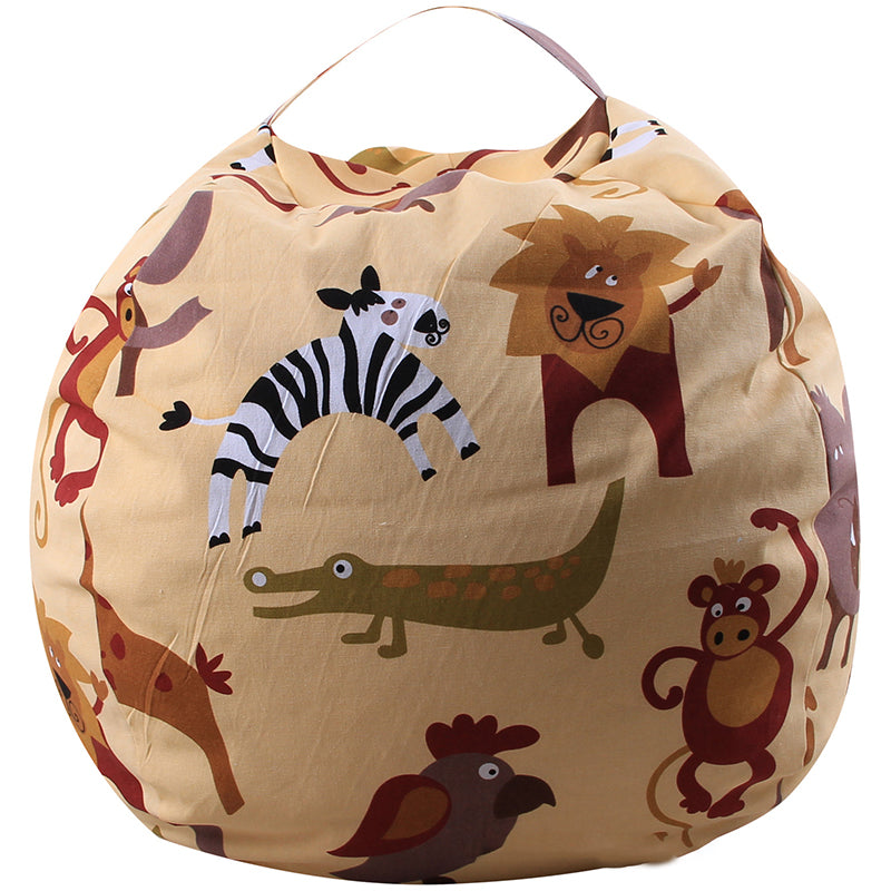 16inch Large Capacity Multi-function Zipper Canvas Toy Storage Bags