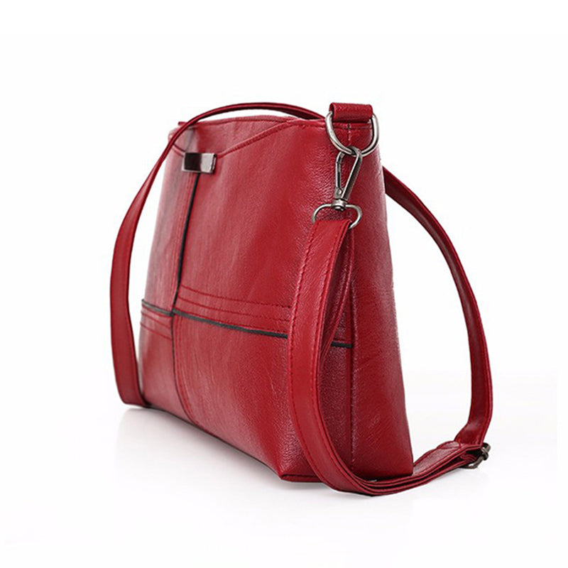 Womens Leather Zipper Casual Crossbody Bags
