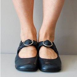 Mary Janes Blue Summer Low Heel Vintage  Women Shoes
