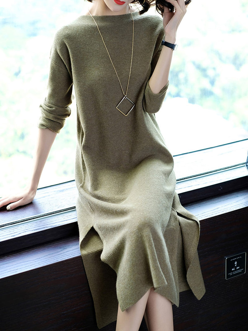 Acrylic Casual Solid Dresses