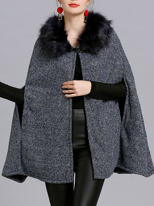Fluffy Elegant Poncho and Cape