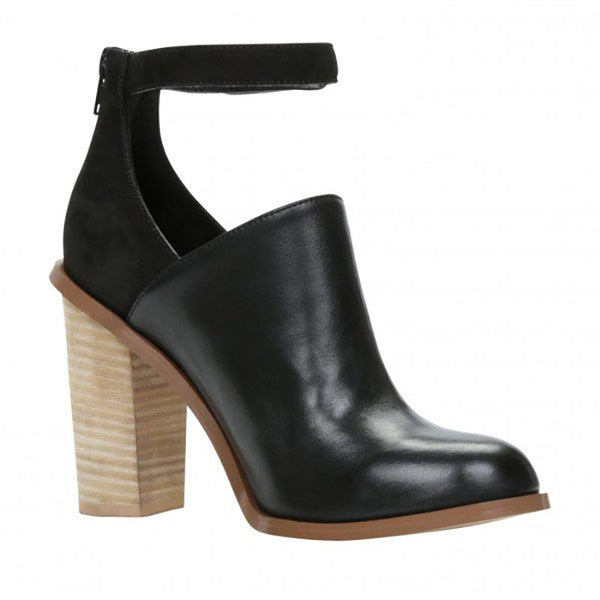 Women Heeled  Retro Ankle Strap Chunky Heel Ankle Boots