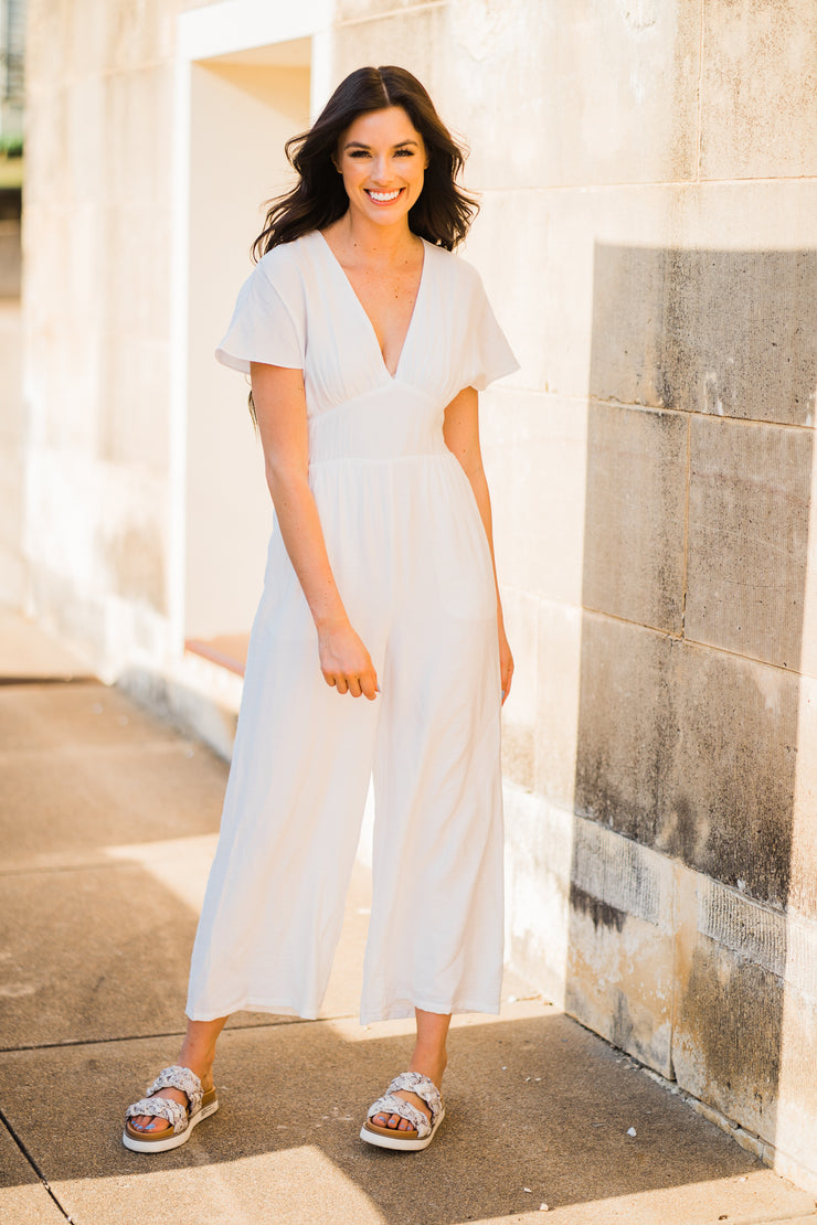 White This Way Jumpsuit
