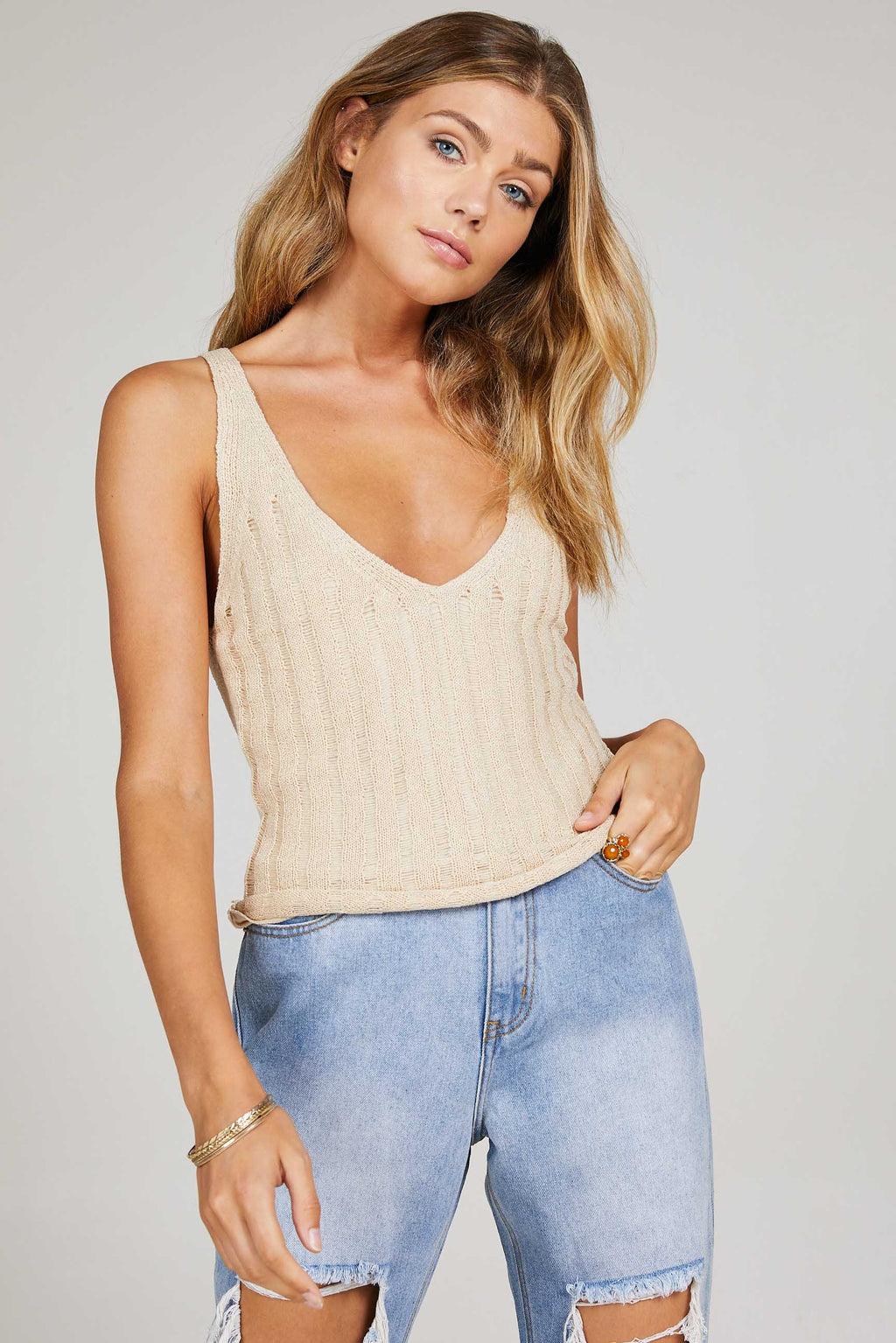 Sage the Label - Laguna Knit Tank, , Too Tempted - Too Tempted
