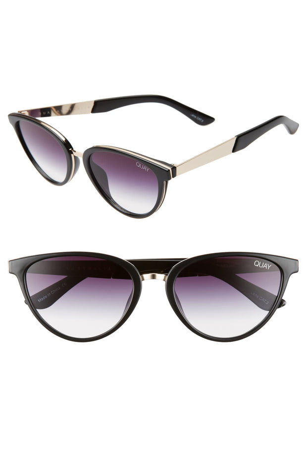 Quay Rumours 47mm Gradient Cat Eye Sunglasses, , Too Tempted - Too Tempted