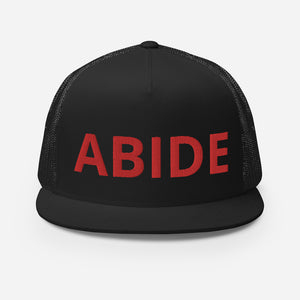 The ABIDE 5 Panel Trucker Cap/Snapback