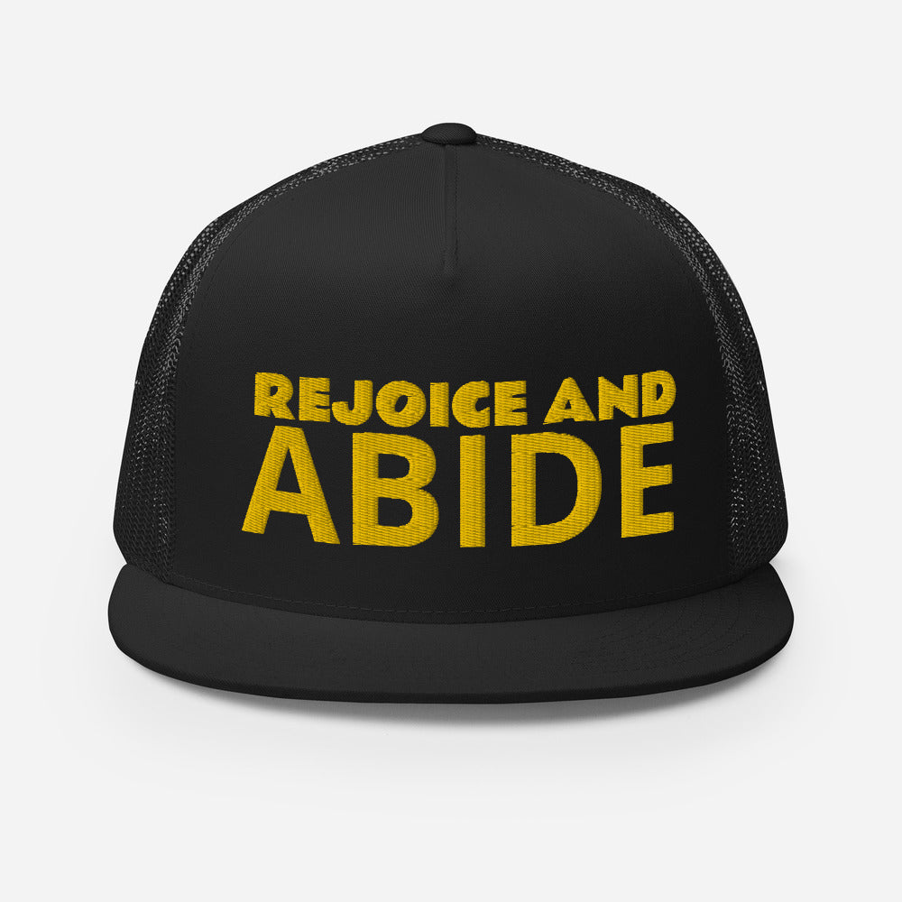 The Rejoice and Abide Trucker Hat