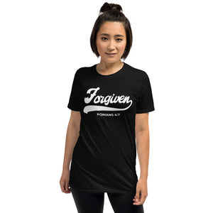 Forgiven Unisex Tee *Black and Dark Heather Color Options*