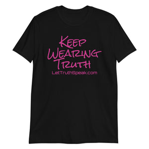 Truth Speaks Signature Tee w/Pink Lettering