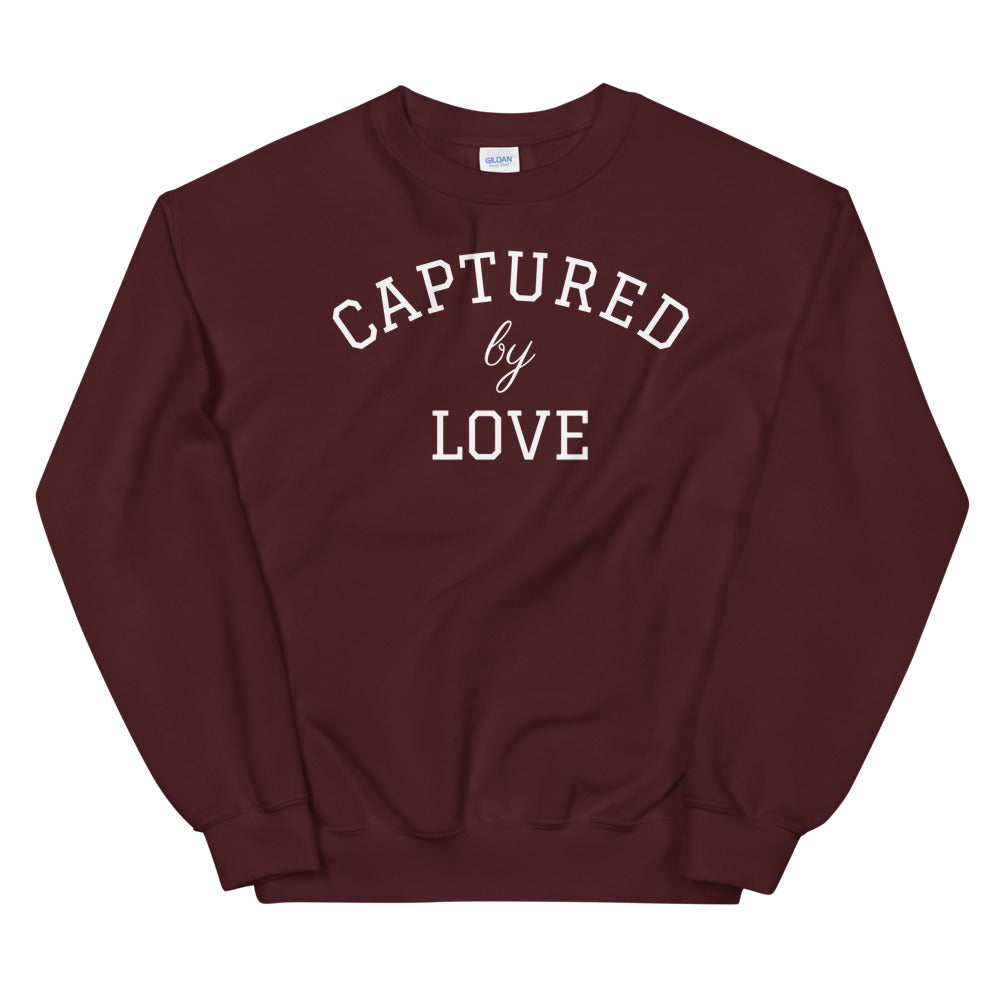 Captured Unisex Sweatshirt (Maroon and Dark Heather Color Options)