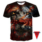 Warrior. A 3D t-shirt from Dimension Tee.