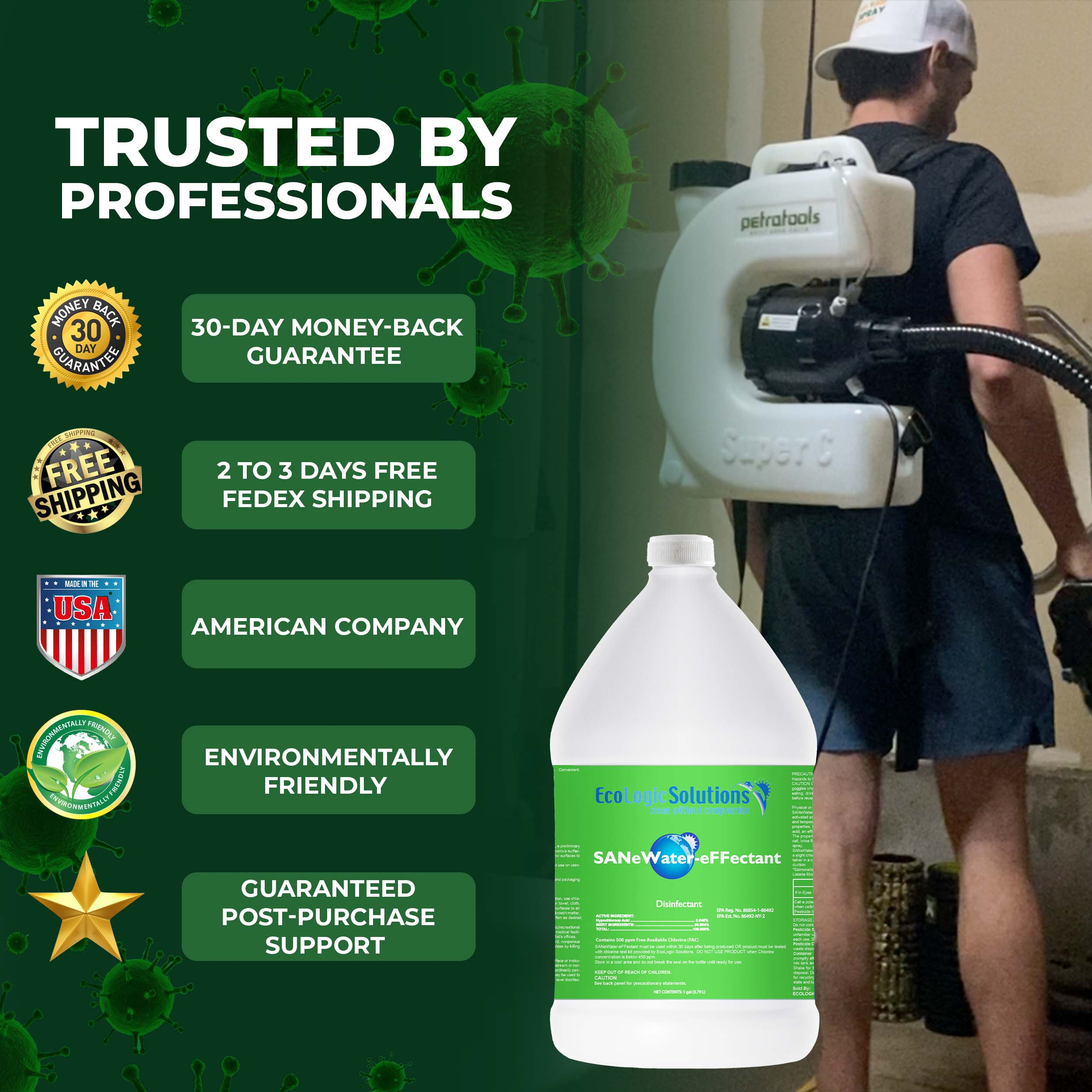 ULV500 Professional Surface Cleaner, Hypochlorous Acid (HOCl) - 55-Gallon