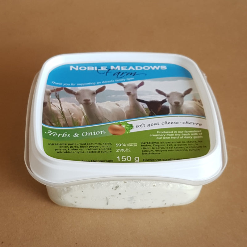 Herb & Onion Soft Goat Cheese (Chevre)