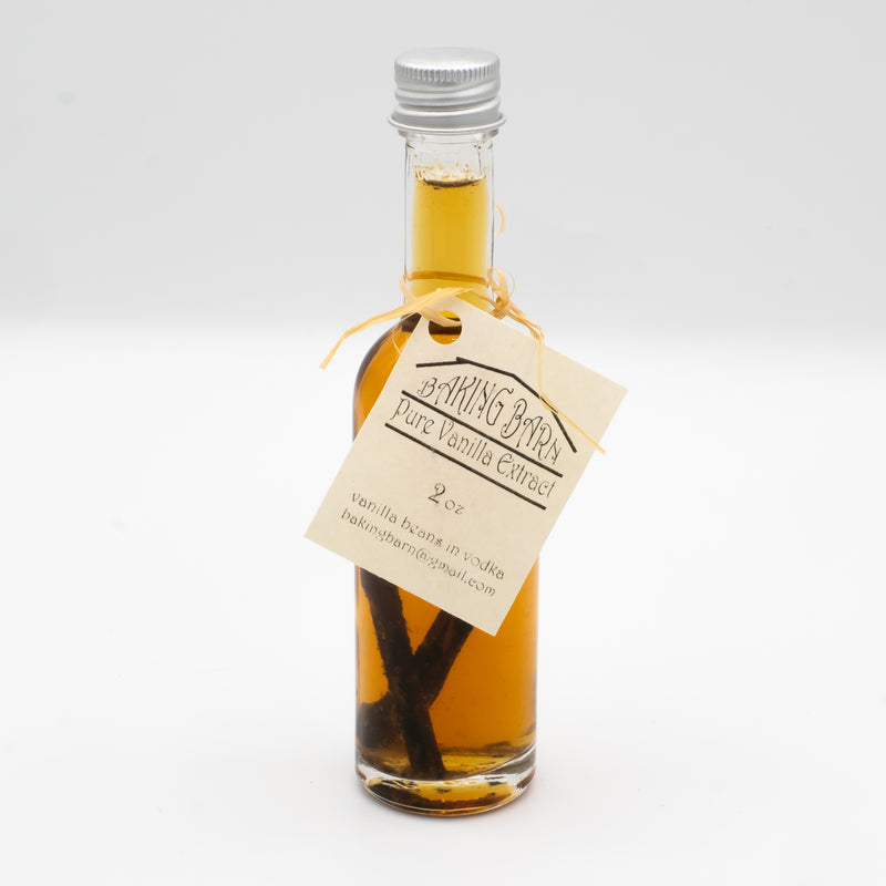 Pure Vanilla Extract made with Vodka 2oz