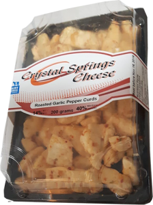 Roasted Garlic & Pepper Cheese Curds